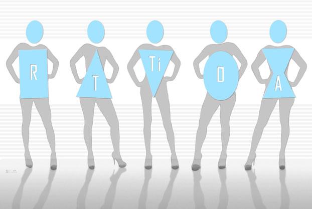 imagem dos 5 tipos físicos femininos - photoshop
